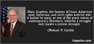the career of american poet and civil rights activist maya angelou