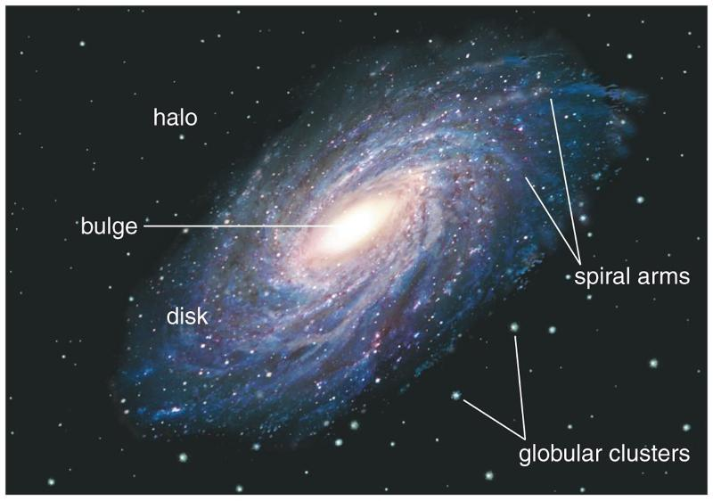 sketch of major components with milky way galaxy - photo #16