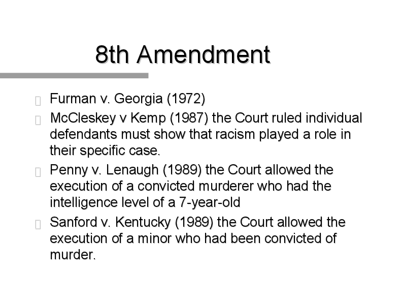 the case of furman v georgia and the issue of capital punishment in the us On that day the court handed down its decision in furman v georgia, holding that the capital‐punishment statutes of three states were unconstitutional because they gave the jury complete .