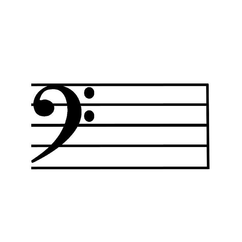 advanced key signature flash cards bass clef major keys