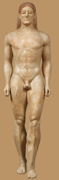 a comparison of the egyptian figure torso of a general and the greek marble statue of kouros Kouros, plural kouroi, archaic greek statue representing a young standing male although the influence of many nations can be discerned in particular elements of these figures, the first appearance of such monumental stone figures seems to coincide with the reopening of greek trade with egypt ( c 672 bc .